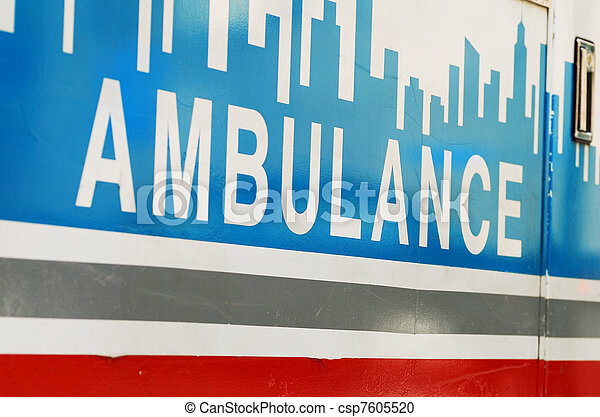 An ambulance concepts of emergency  - csp7605520