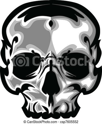 Skull Graphic Vector Image - csp7605552