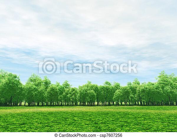 Spring scenery - csp7607256