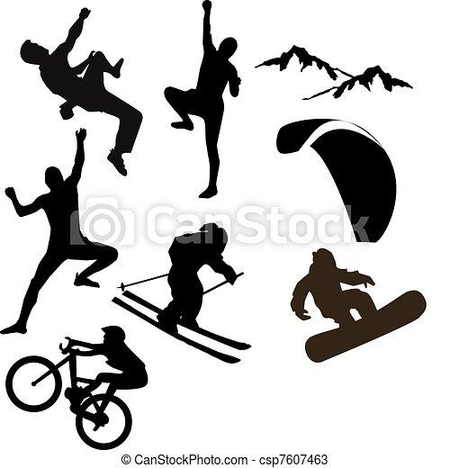 Sport silhouettes - csp7607463