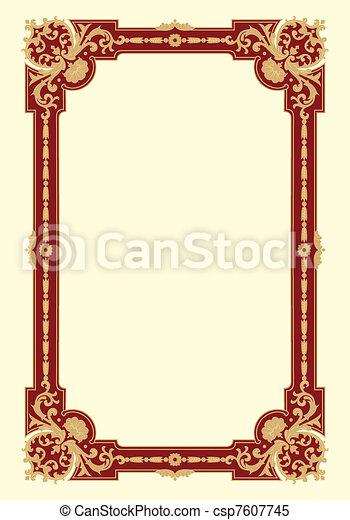 Ornamental border frame vintage - csp7607745