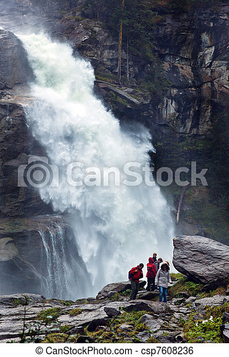 krimmel waterfalls in austria - csp7608236