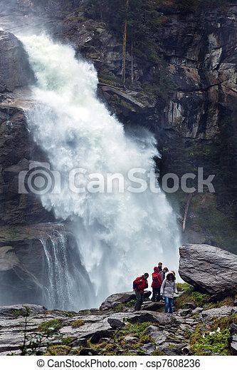 krimmel waterfalls in austria - csp7608236