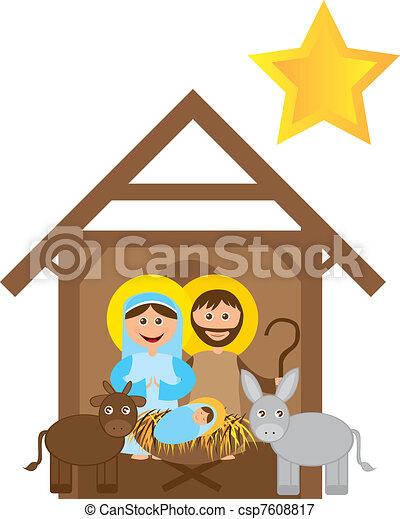 Christmas nativity  - csp7608817