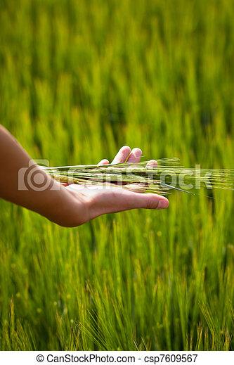 Symbolic gesture suggesting fertility, plenitude, health - csp7609567