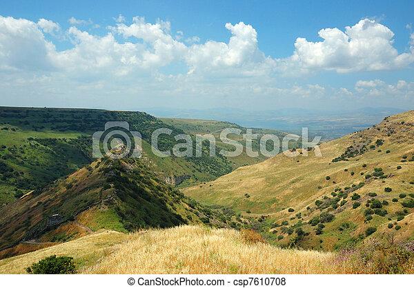 Israeli national park Gamla fortress at the Golan Hights - csp7610708
