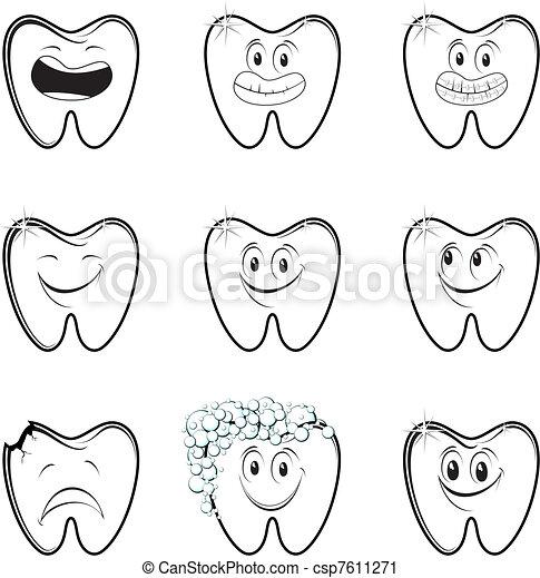 dental cartoon set - csp7611271