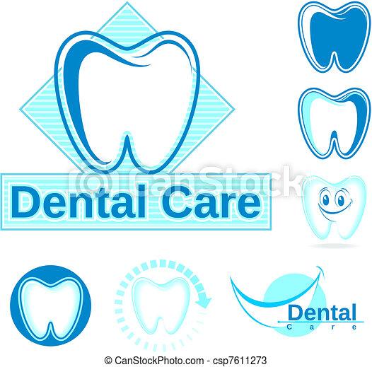 dental logo vector clipart - csp7611273