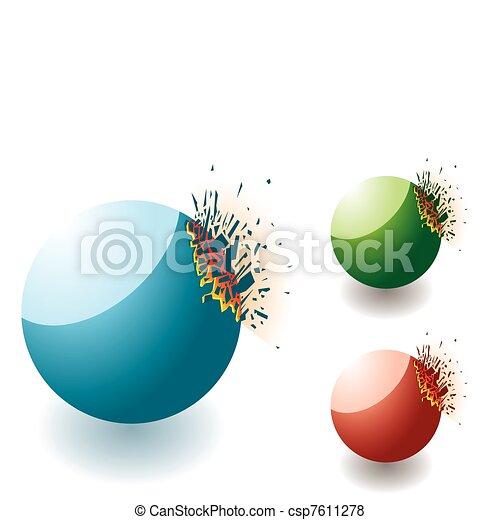 Exploding stone round - csp7611278