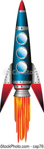 Starting blue rocket - csp7611709