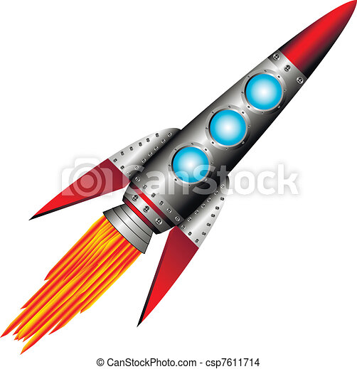 Starting rocket - csp7611714