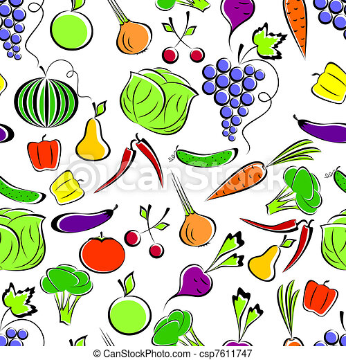Vegetables and fruit. - csp7611747