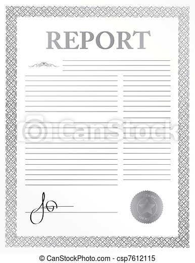 signed report paper illustration - csp7612115