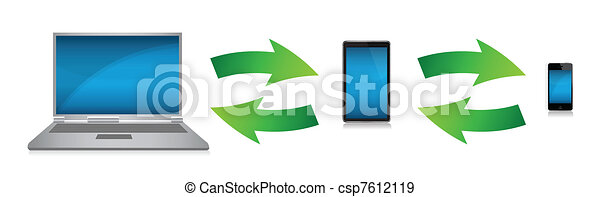 technology electronics connected - csp7612119