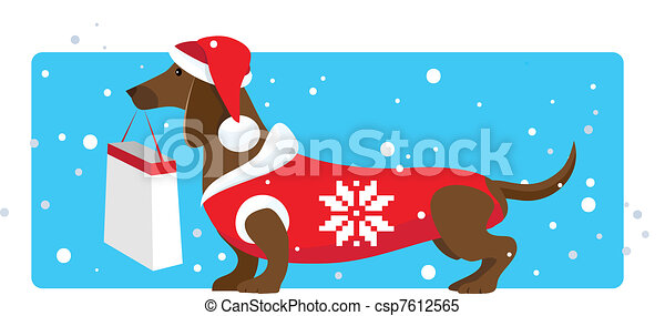 Christmas shopping helper - csp7612565