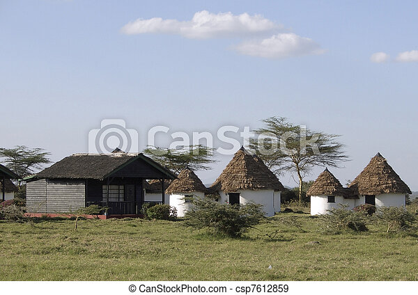 Momela Wildlife Lodge in Africa - csp7612859