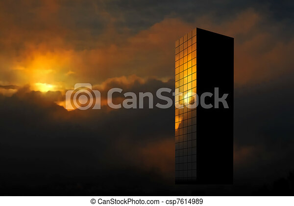 Sunrise skyscraper - csp7614989