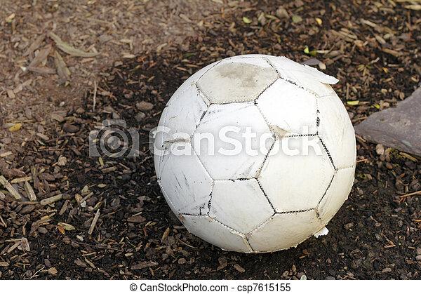 Worn Soccer Ball - csp7615155