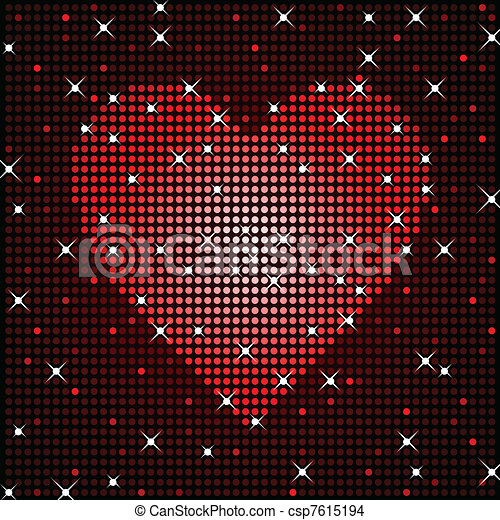 Sparkly love background - csp7615194