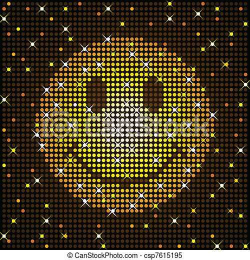 Sparkly smiley face - csp7615195