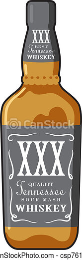 Whiskey Bottle - csp7615218
