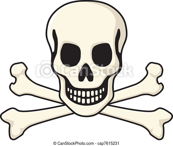 Vector Clip Art of Skull and Crossbones - The classic pirate jolly ...
