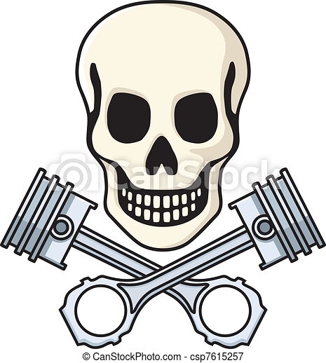 Skull Piston Drawing Skull And Pistons Csp7615257