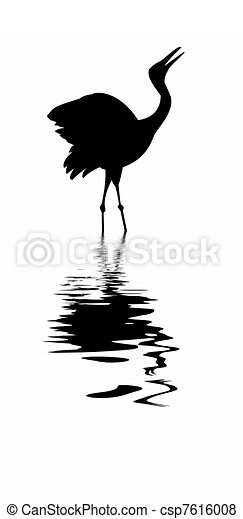 silhouette of the crane amongst wa - csp7616008