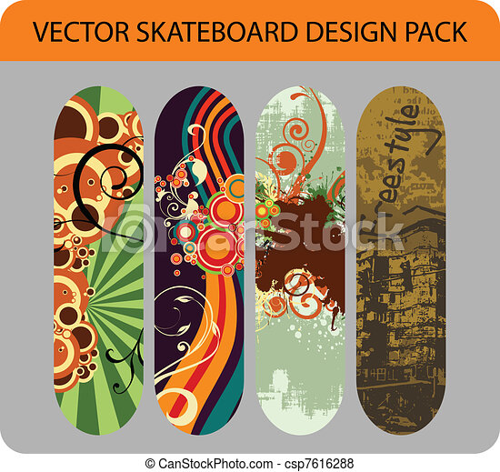 Skateboard design pack 1 - csp7616288