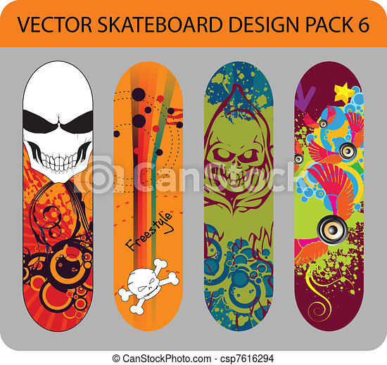 Skateboard design pack 6 - csp7616294