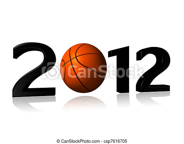 big 2012 basketball design - csp7616705