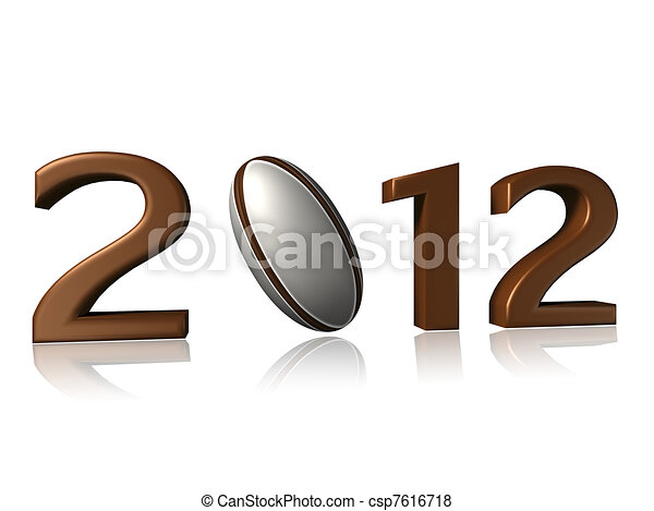 2012 rugby design on white background - csp7616718