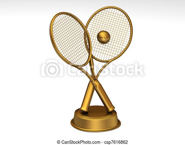 Golden tennis trophy - csp7616862
