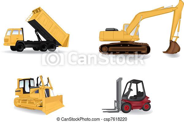 Industry machines vector i - csp7618220