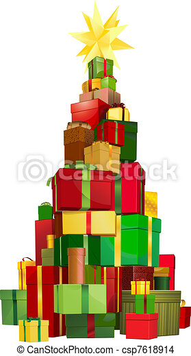Christmas tree gifts - csp7618914