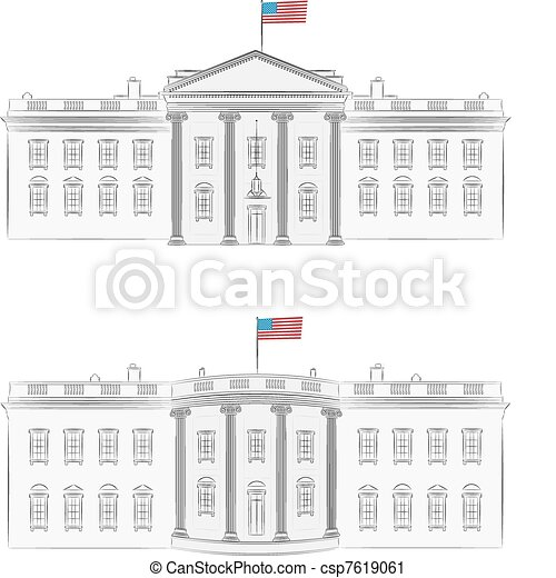 White House Drawing Vector White House Vector