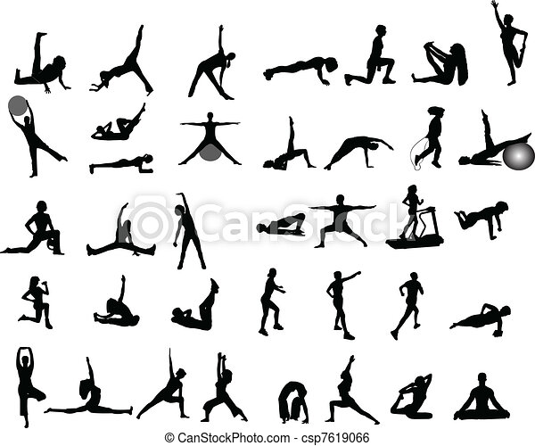 clip art vector of exercise illustrations exercise ball clip art in black and white ball clip art in black and white