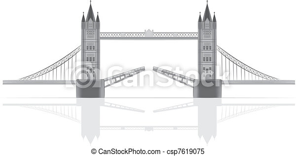 Bridge vector illustration - csp7619075