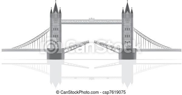 Bridge vector illustration - csp7619075
