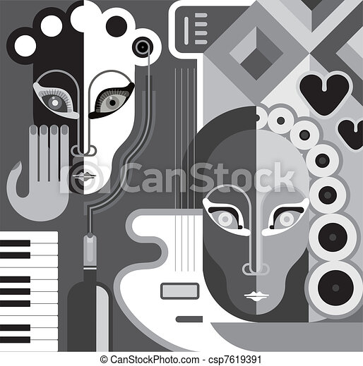 Music Party - vector illustration - csp7619391