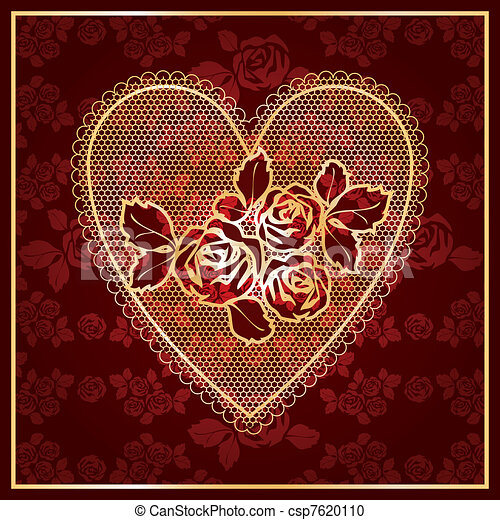 Heart Lace - csp7620110