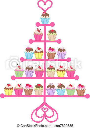 Cup Cake Stand Vecor