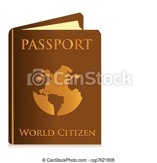 Passport on white background - csp7621808