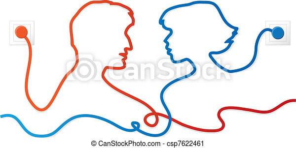 Communicating couple - csp7622461