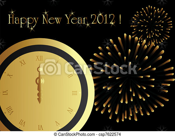 2012 new year card, eps8 - csp7622574