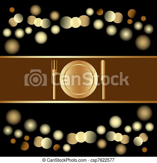 Holiday invitation or Menu , eps8 - csp7622577