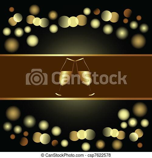 Holiday invitation or Menu , eps8 - csp7622578