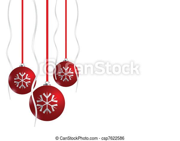 Red Christmas balls, eps8 - csp7622586
