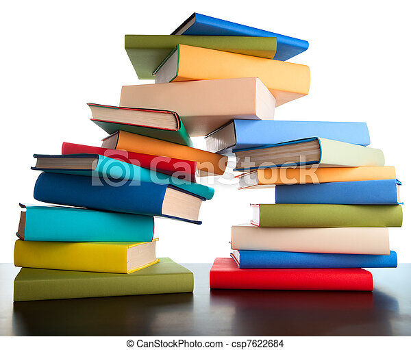 education study books stack books - csp7622684