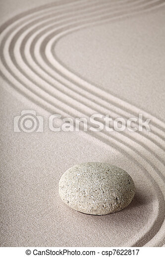 zen garden zen stone and sand - csp7622817